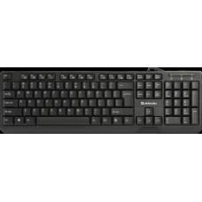 Клавиатура Defender проводная officemate hm-710 черный. полноразмерная 45710