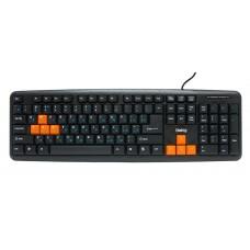 Клавиатура проводная Dialog standart ks-020u usb черный оранжевый KS-020U