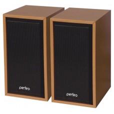 Колонки Perfeo ''Cabinet'' 2.0, мощность 2х3 Вт (RMS), бук дерево, USB (PF-84-WD)