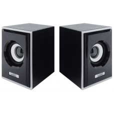 Акустическая система 2.0 Cbr cms 408. black-silver. 3.0 w*2. usb CMS408