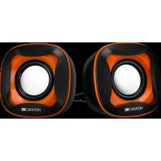 Колонки CANYON CNS-CSP202BO Black/Orange (3Вx2,USB 2.0)