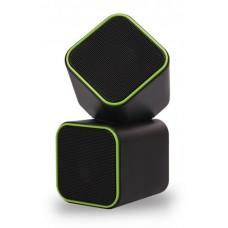 Колонки SMARTBUY CUTE. 6Вт. USB. черно-зеленые. (SBA-2580)