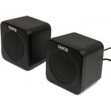Колонки Dialog Colibri AC-01UP BLACK {акустические колонки 2.0, 1W RMS, черные, питание от USB}