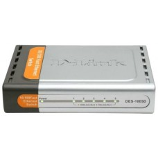 Коммутатор d-link des-1005d/n2a 5-port 10/100mbps метал. корпус DES-1005D