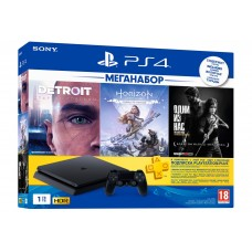 Sony PlayStation 4 1Tb + HZD + Detroit + TLoUS + PS 3 месяца CUH-2208B / PS719926108