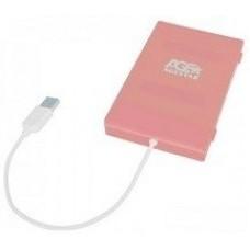 Мобильный корпус для hdd Agestar 2.5'' subcp1 usb2.0. sata/ssd. пластик. pink SUBCP1 Pink