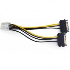 Переходник питания для видеокарт SATA MOLEX - 8PIN GEMBIRD CC-PSU-82