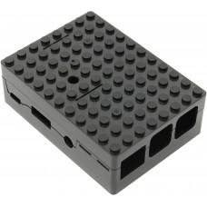 Корпус RA182 black для микрокомпьютера Raspberry Pi 3 ACD Black ABS Plastic Building Block case for Raspberry Pi 3