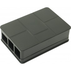 Корпус ACD RA186 Black ABS Plastic Case Brick style w/ Camera cable hole for Raspberry Pi 3