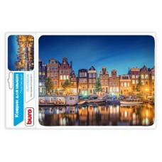 Коврик BU-M10034/M40083  Коврик для мыши пластиковый, Амстердам,  230 х 180 х 2 мм