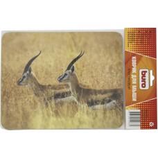 Коврик для мыши Buro BU-M40077 коричневый/рисунок