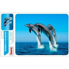 Коврик для мыши Buro bu-m40083 пластиковый дельфины 230х180х2мм BU-M40083