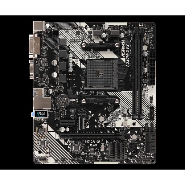 Материнская плата ASRock AMD A320 SAM4 MATX A320M-DVS R4.0