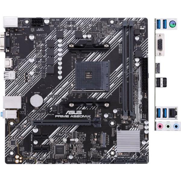 Материнская плата PRIME A520M-K AM4,A520,DDR4,M.2,HDMI,MB