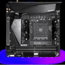 Материнская плата B550I AORUS PRO AX, Socket AM4, AMD B550, 2xDDR4-3200, HDMI+HDMI+DP, 1xPCI-Ex16, 4xSATA3(RAID 0,1,10), 2xM.2, 8 Ch Audio, 1x2,5GLan, WiFi, (0+2)xUSB2.0, (5+2)xUSB3.2, (1+0)xUSB 3.2 Type-C™, Mini-ITX, RTL {}