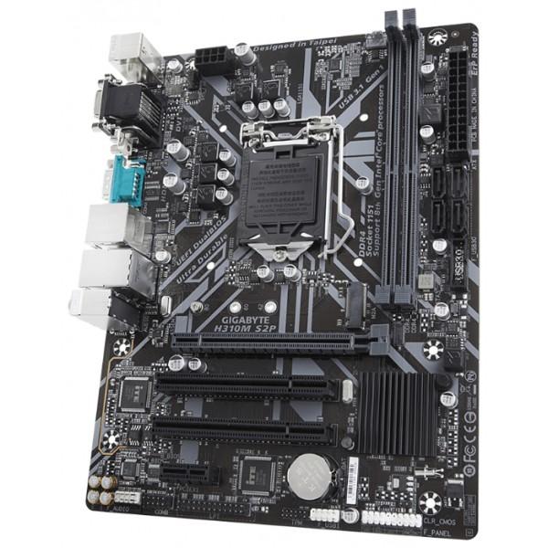 Материнская плата Gigabyte H310M S2P Soc-1151v2 Intel H310 2xDDR4 mATX AC`97 8ch(7.1) GbLAN+VGA+DVI+HDMI H310MS2P