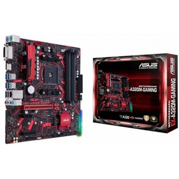 Материнская плата Asus EX-A320M-GAMING sAM4 AMD A320 mATX EX-A320M-GAMING