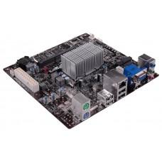 Материнская плата ECS BAT-I2/J1800. Intel Dual-Core CeleronJ1800 (2.41 GHz). 1xDDR3-1600 SO-DIMM. D-SUB+HDMI. 1x miniPCI-Ex1. 2xSATA3. 6 Ch Audio
