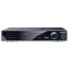 Плеер DVD Hyundai H-DVD200 черный Караоке ПДУ H-DVD200
