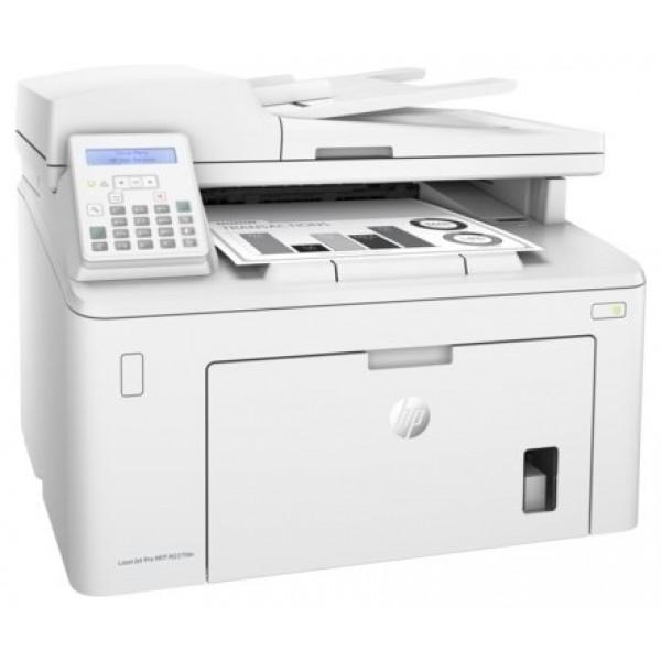 МФУ HP LaserJet Pro MFP M227fdn, лазерный принтер/сканер/копир/факс, A4, 28 стр/мин, 1200x1200 dpi, 256 Мб, ADF35, дуплекс, подача: 260 лист., вывод: 150 лист., Post Script, Ethernet, USB, NFC, ЖК-панель (Старт.к-ж 1600 стр)