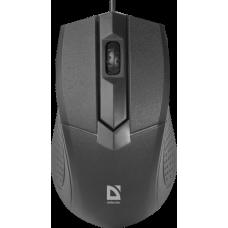 Мышь проводная Defender Optimum MB-270 черный [52270] {Проводная оптическая мышь, 3 кнопки,1000 dpi}