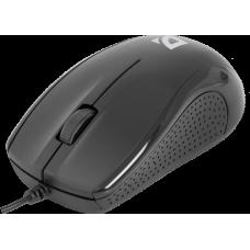 Проводная оптическая мышь Defender optimum mb-160 черный. 3 кнопки.1000 dpi. usb 52160