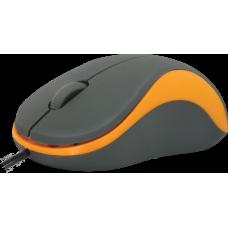 Мышь Defender accura ms-970. 1000 dpi. серая/оранжевая 52971