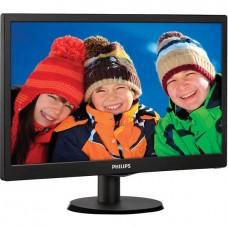 Монитор 18.5'' Philips 193V5LSB2/10(62) Black (LED, LCD, Wide, 1366x768, 5 ms, 90°/65°, 200 cd/m, 10M:1)