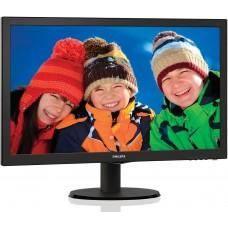 Монитор 21.5'' PHILIPS 223V5LSB/00(01) Black (LED, LCD, Wide, 1920x1080, 5 ms, 170°/160°, 250 cd/m, 10M:1, +DVI)