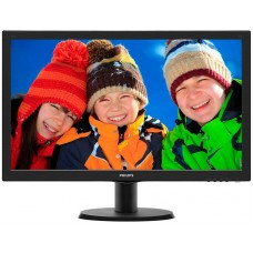 Монитор Philips 23.6'' 243V5LSB (10/62) Glossy-Black TN LED 5ms 16:9 10M:1 250cd 243V5LSB/10(62)