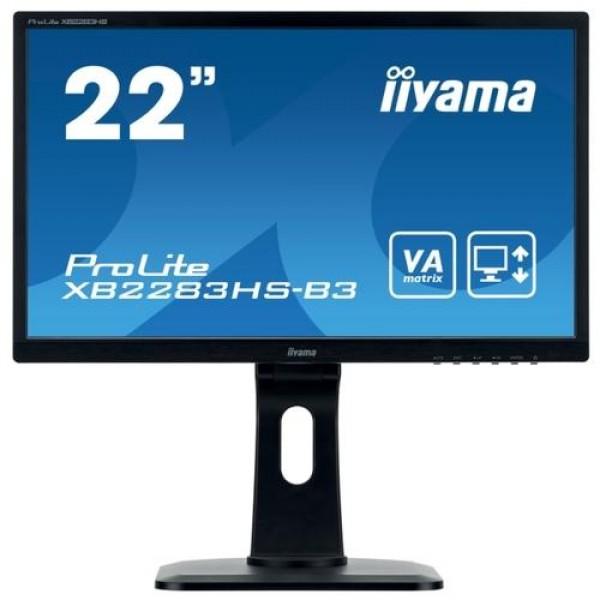 Монитор Iiyama 21.5'' ProLite XB2283HS-B3 черный VA LED 4ms 16:9 HDMI 250cd 178гр/178гр 1920x1080 D-Sub DisplayPort XB2283HS-B3