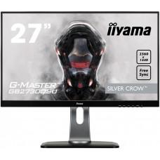 Монитор жидкокристаллический Iiyama LCD 27'' [16:9] 2560х1440 TN, nonGLARE, 350cd/m2, H170°/V160°, 1000:1, 12М:1, 16,7M Color, 1ms, DVI, HDMI, DP, USB-Hub, Height adj., Pivot, Tilt, HAS, Speakers, Swivel, 3Y, Black