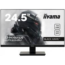 Монитор Iiyama G2530HSU-B1 LCD 24.5'' [16:9] 1920х1080 TN, nonGLARE, 250cd/m2, H170°/V160°, 1000:1, 12М:1, 16,7M Color, 1ms, VGA, HDMI, DP, Tilt, Speakers, 3Y, Black