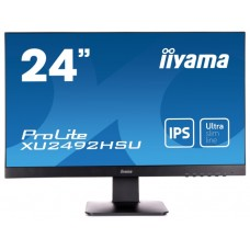 Монитор Iiyama 23.8'' ProLite XU2492HSU-B1 черный IPS LED 5ms 16:9 HDMI M/M матовая 250cd 178гр/178гр 1920x1080 D-Sub DisplayPort FHD USB 3.6кг