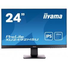 Монитор 23.8'' Iiyama  ProLite XU2492HSU-B1 черный IPS LED 5ms 16:9 HDMI M/M матовая 250cd 178гр/178гр 1920x1080 D-Sub DisplayPort FHD USB 3.6кг
