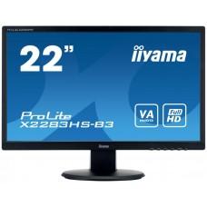 Монитор Iiyama 21.5'' X2283HS-B3 черный VA LED 4ms 16:9 HDMI 3000:1 250cd 178гр/178гр 1920x1080 D-Sub DisplayPort X2283HS-B3