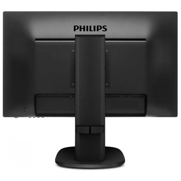 Монитор Philips 243S5LHMB 23.6'' (00/01) черный TN LED 16:9 HDMI матовая HAS Pivot 1000:1 250cd 170гр/160гр 1920x1080 D-Sub FHD 243S5LHMB