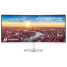 Монитор Samsung 34'' C34J791WTI белый VA LED 4ms 21:9 HDMI M/M матовая HAS 3000:1 300cd 178гр/178гр 3440x1440 DisplayPort WQHD USB 7.7кг