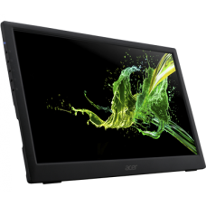 МОНИТОР 15.6'' Acer PM161Qbu Black (IPS, LED, Wide, 1920x1080, 7ms, 178°/178°, 220 cd/m, 100,000,000:1, +USB, )