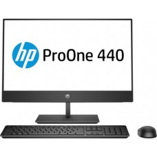 Моноблок HP ProOne 440 G4 AiO 23.8''(1920x1080 IPS)/Intel Core i3 8100T(3.1Ghz)/4096Mb/1000Gb/DVDrw/WiFi/W10Pro +  HP HDMI Port 4NU52EA