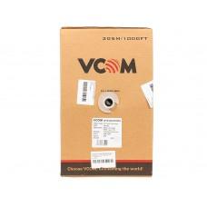 Кабель Vcom cca Utp кат.5е 4 пары. бухта 305м vnc1100 (омедненный) VNC1100-YE