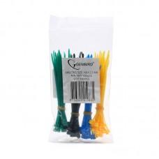 Стяжки Gembird (NYT-100x2.5С)  пластиковые 100 мм х 2.5 мм (набор 4 цвета по 25 шт) NYT-100x2.5C