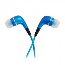 Наушники human friends spark blue (внутриканальные). cветящийся led-кабель в Такт музыке
