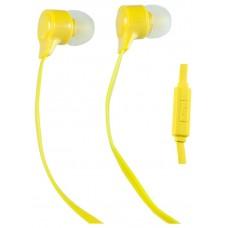 Наушники Perfeo внутриканальные с микрофоном handy желтые pf-hnd-ylw PF-HND-YLW