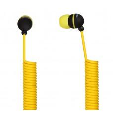 Наушники SMARTBUY U.F.O. SBE-2020 [растягивающийся кабель. желт]