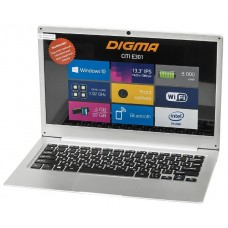 Ноутбук Digma CITI E301 Atom X5 Z8350/4Gb/SSD32Gb/Intel HD Graphics 400/13.3/IPS/HD (1920x1080)/Windows 10 Home Multi Language 64/silver/WiFi/BT/Cam""