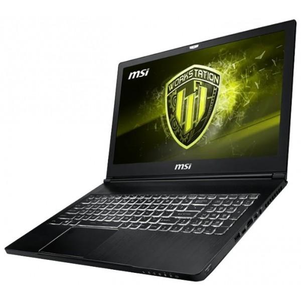 Ноутбук MSI WS63 8SK-052RU 15.6''(1920x1080 (матовый))/Intel Core i7 8750H(2.2Ghz)/32768Mb/1000+256SSDGb/noDVD/Ext:nVidia Quadro P3200(6144Mb)/Cam 9S7-16K722-052