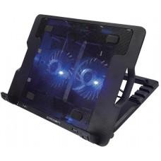 Подставка для ноутбука Crown cmls-940 (black) 15.6''. 2*fan.blue light.2*usb CMLS-940