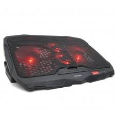 Подставка охлаждающая Crown CMLS-01. до 17''. 2 вентилятора 125 мм + 2 x 70 мм. подсветка. USB CMLS-01