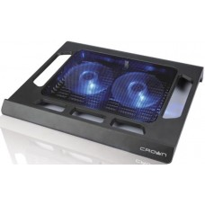 Подставка для ноутбука CROWN CMLS-937 (Black) 15,6'''', 2*Fan,blue light